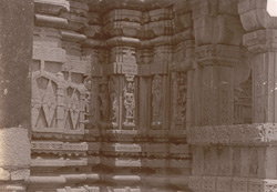 Close view of mouldings on the temple façade, Bharauli, Jhansi District
